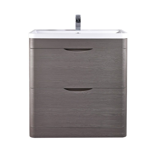Midnight Grey 800mm Floor Standing Vanity Unit & Basin